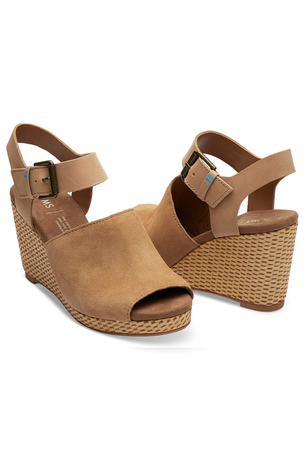 TOMS Tropez Suede Wedge - Front Full Image