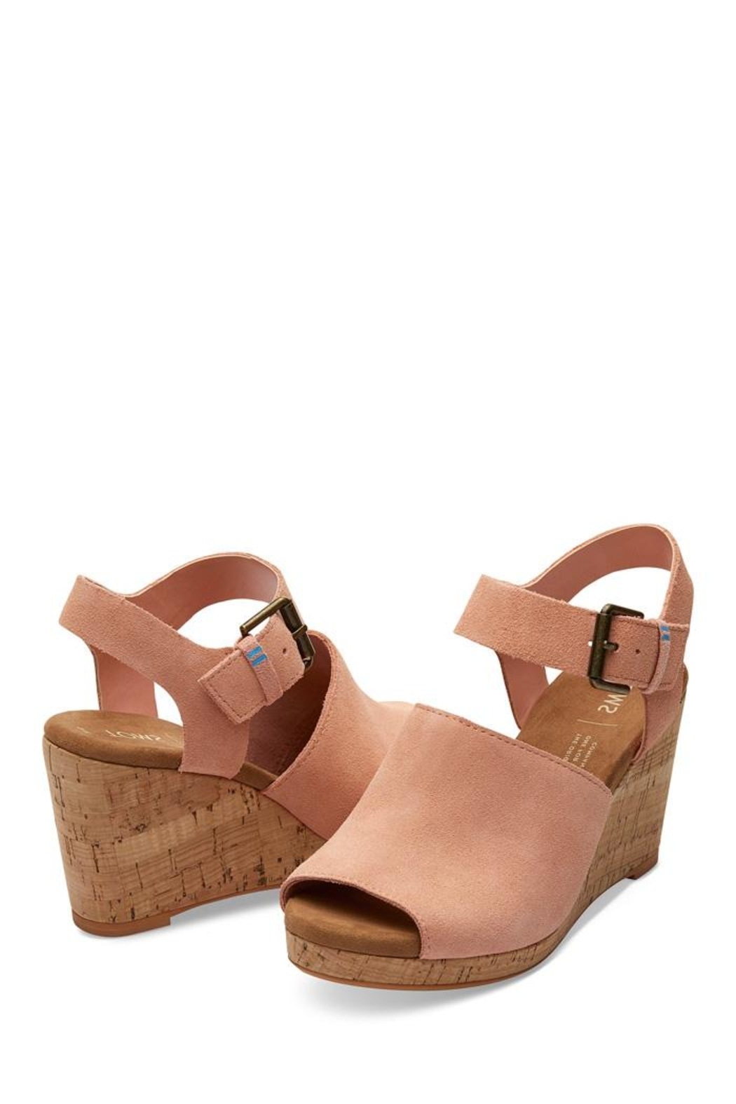 TOMS Tropez Suede Wedges - Front Full Image