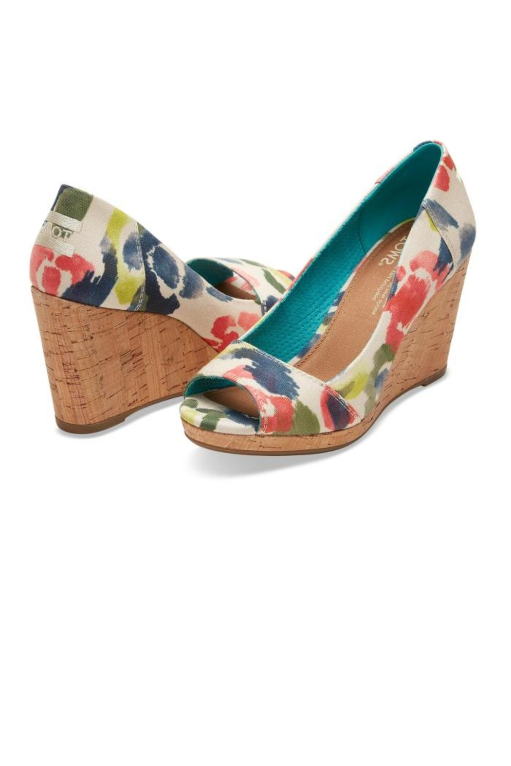 Toms Watercolor Floral Wedge From Minnesota By Apricot Lane Duluth