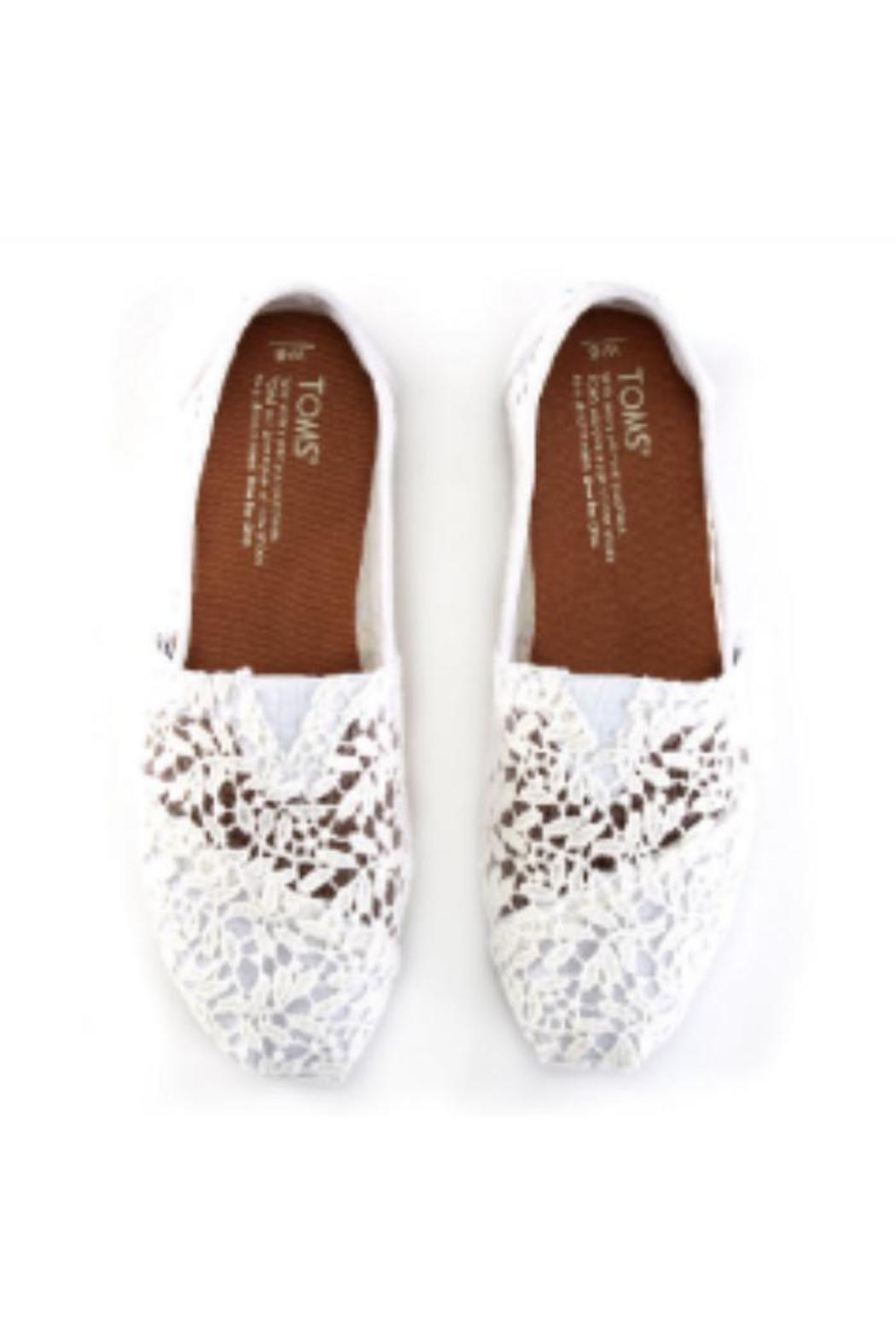 TOMS White Lace Shoe - Front Full Image