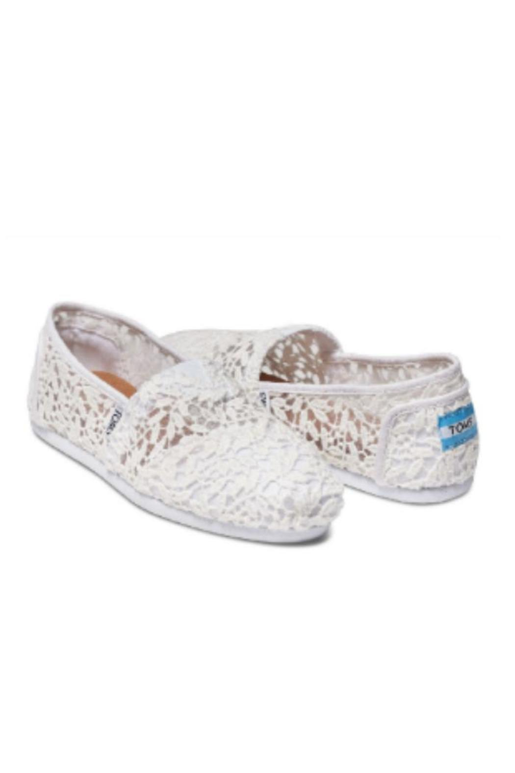 TOMS White Lace Shoe - Side Cropped Image