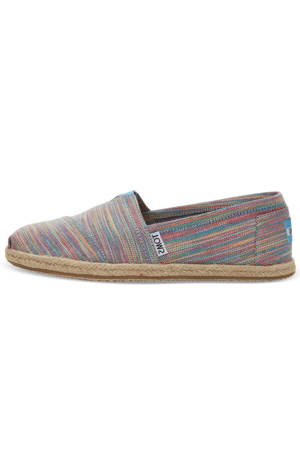 TOMS Rainbow Espadrille Shoes - Front Cropped Image