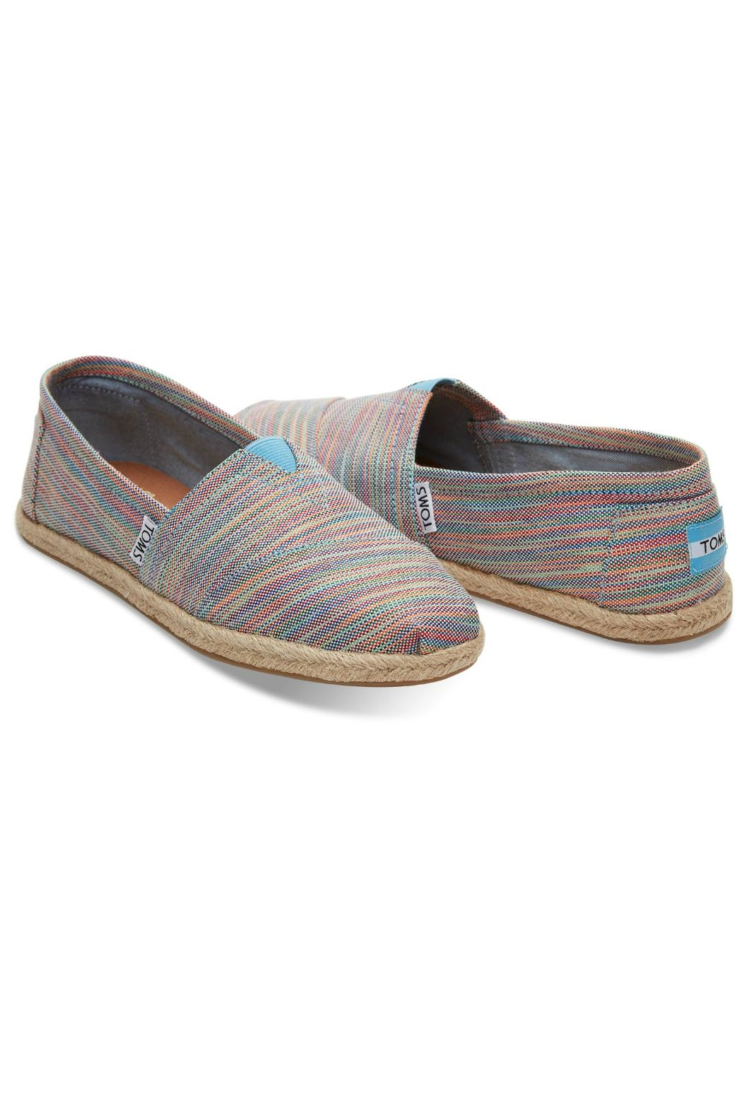 TOMS Rainbow Espadrille Shoes - Front Full Image