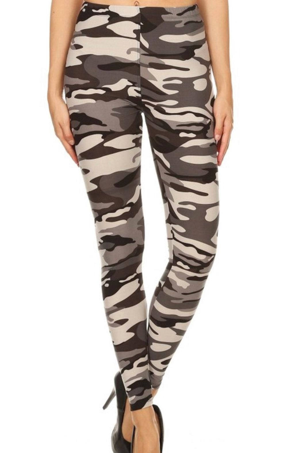 Love It Tonal Camo Legging - Front Cropped Image