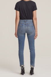 AGOLDE Toni Mid Rise Straight Leg in Landmark - Side cropped