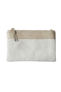 Vash  TONI SNAKE PRINT LEATHER CLUTCH - Product List Image