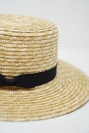 Olive and Pique Toni Straw Boater Hat - Product Mini Image
