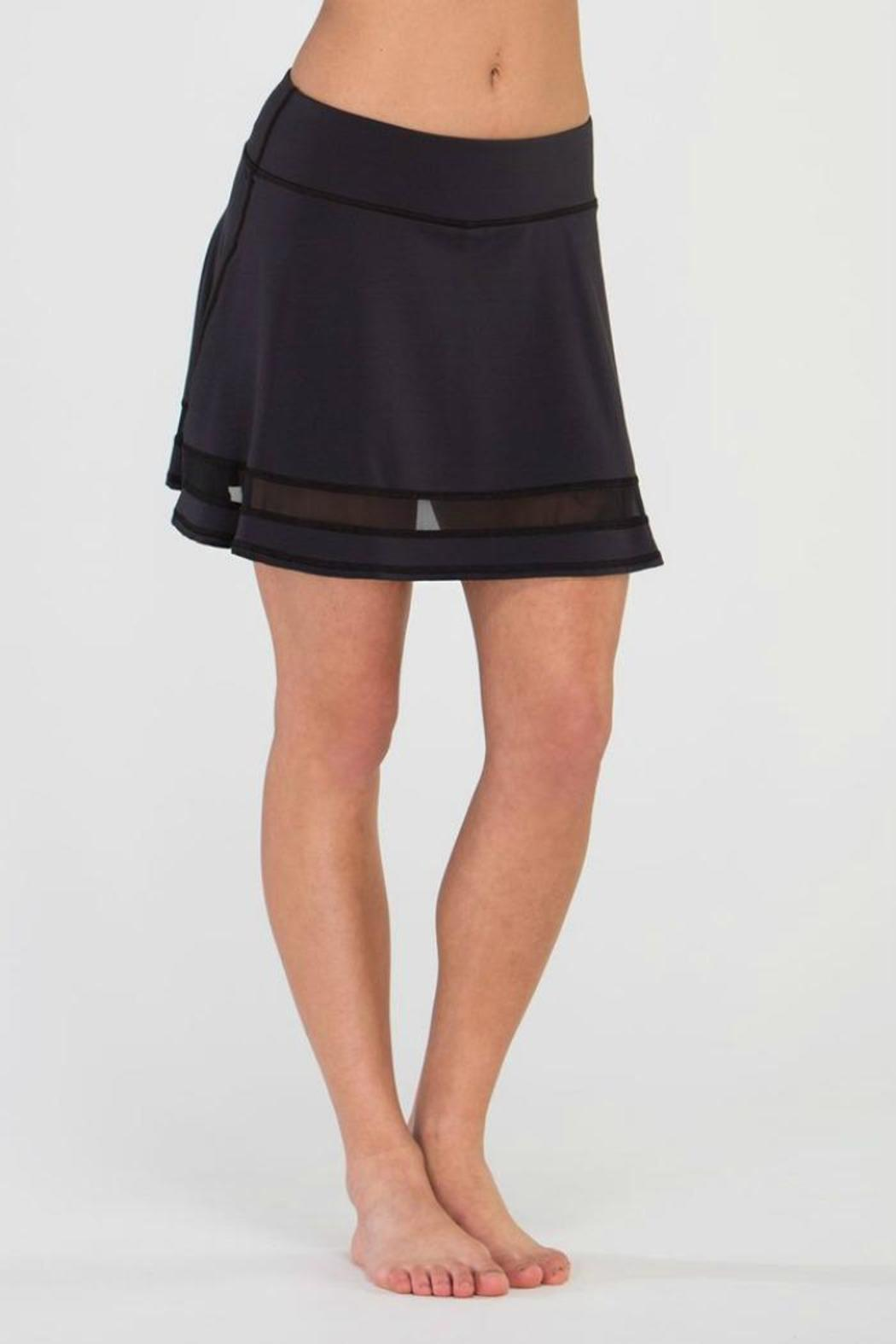 Tonic Active Mesh Inset Skirt - Front Full Image