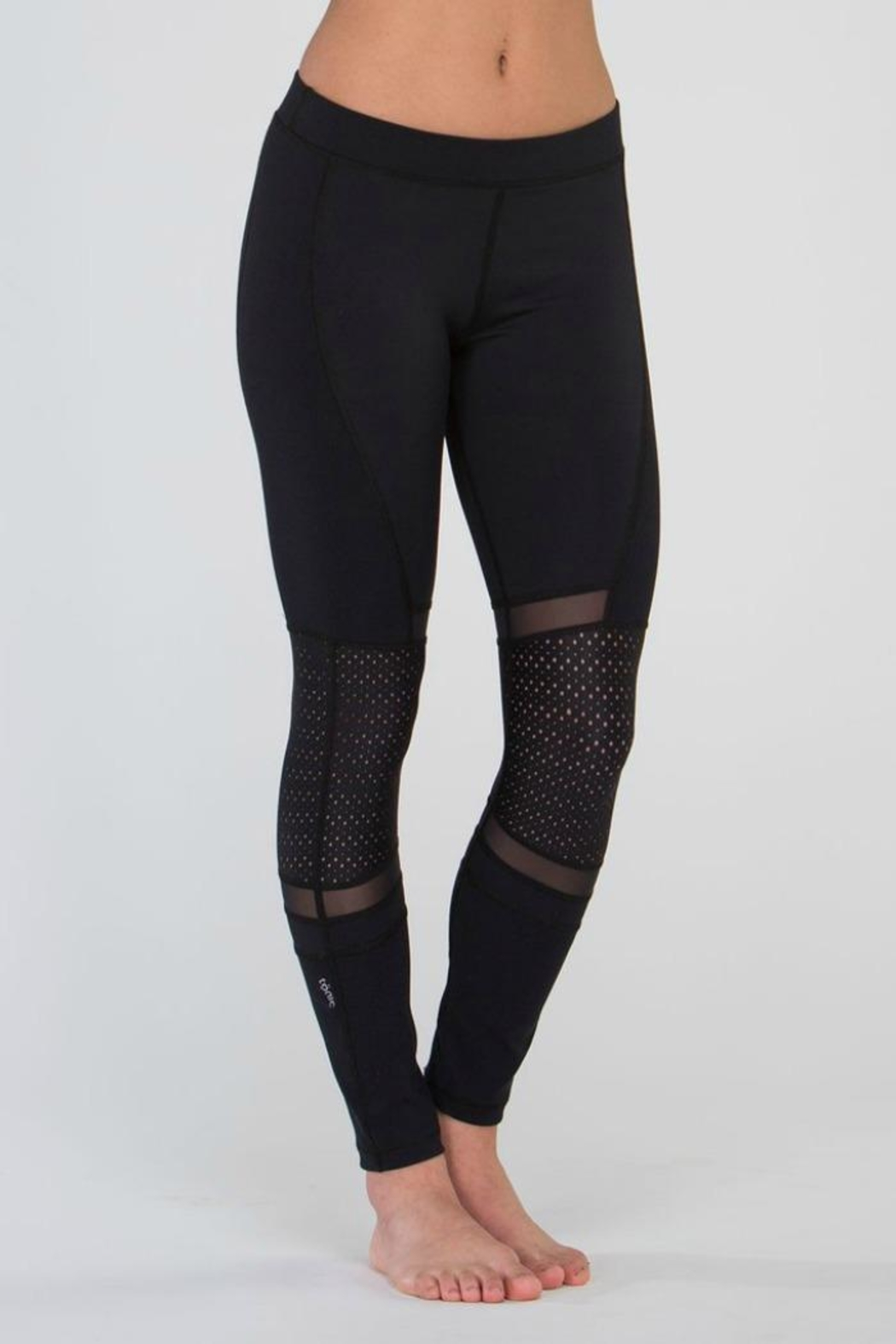 Tonic Active Black Full Leggings - Front Cropped Image