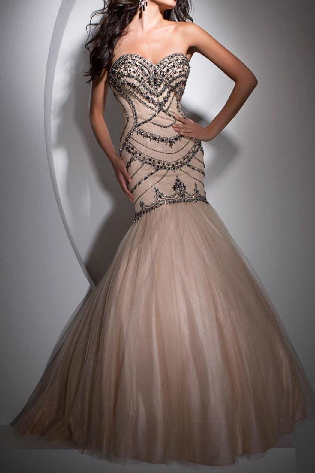 Tony Bowls Tb11691 Mermaid Gown - Front Cropped Image