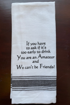 Wild Hare Designs  Too Eearly To Drink Dish Towel - Alternate List Image