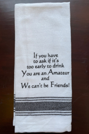 Wild Hare Designs  Too Eearly To Drink Dish Towel - Product Mini Image