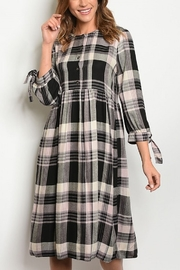 Lyn -Maree's Too Sweet Plaid Dress - Front cropped