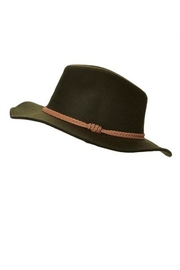 Too Too Hat Braided Band Panama Hat - Front full body