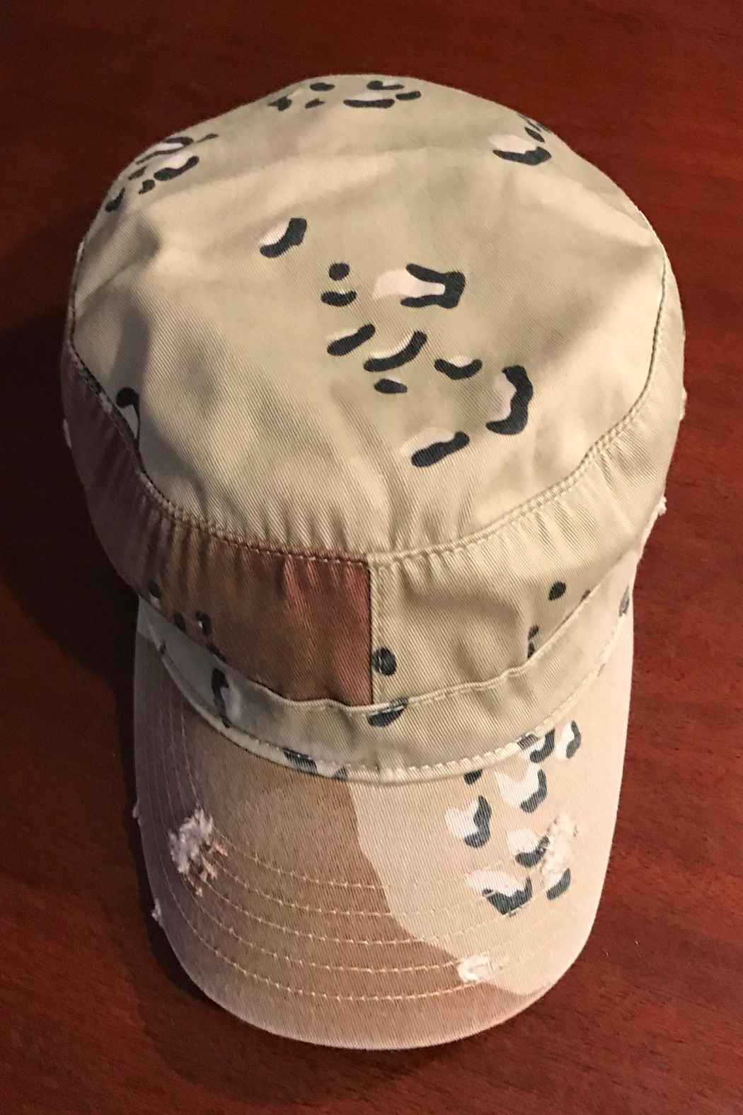 Too Too Hat Camo Military Hat - Back Cropped Image
