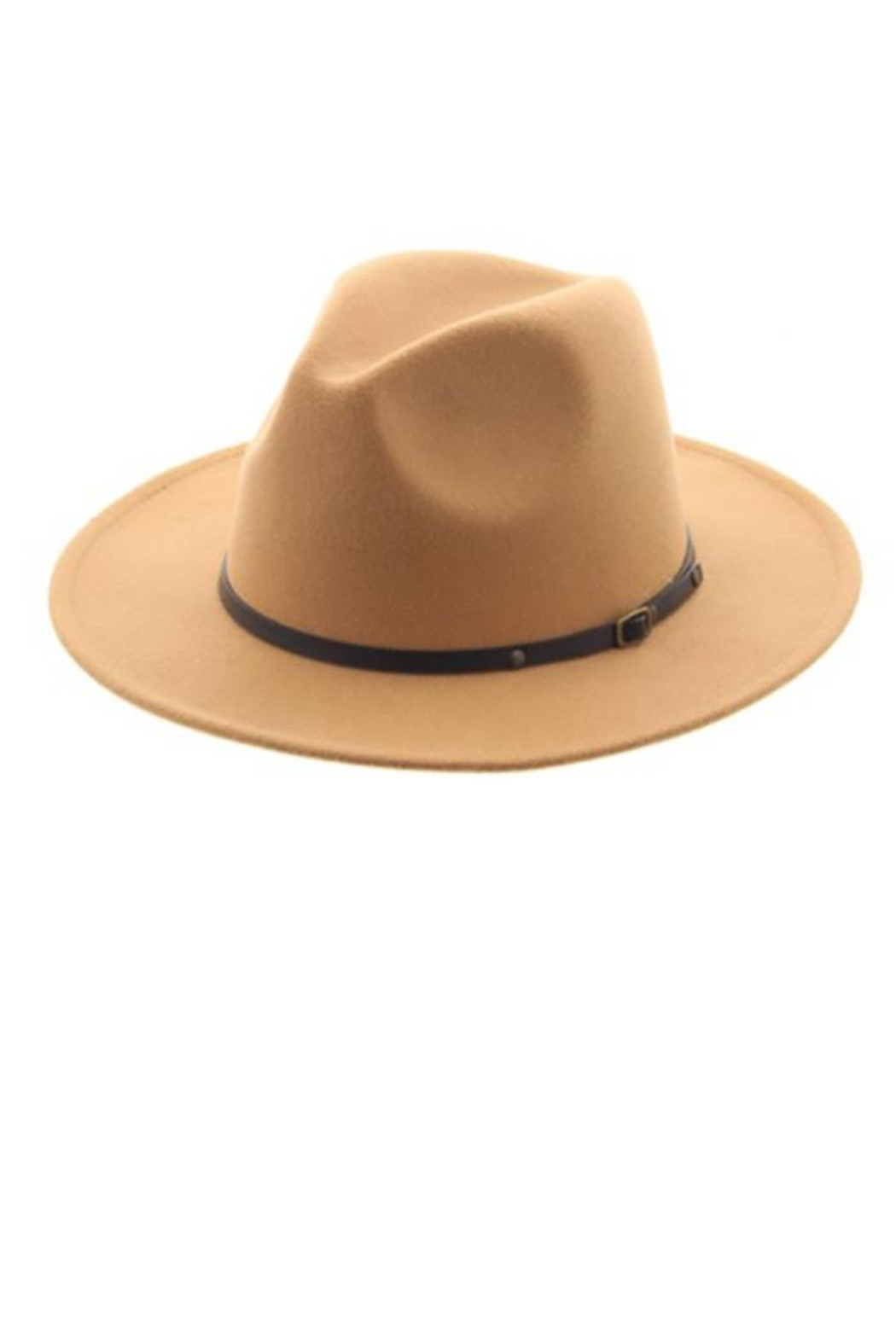 Too Too Hat Classic Panama Hat With Belt - Front Cropped Image