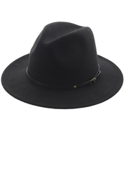 Too Too Hat Classic Panama Hat With Belt - Front cropped