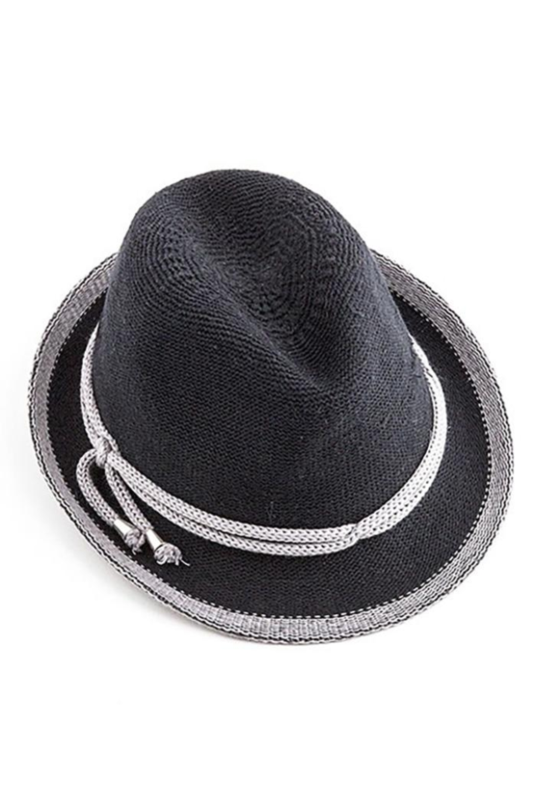 Too Too Hat Fedora With Contrast Color Rope - Main Image
