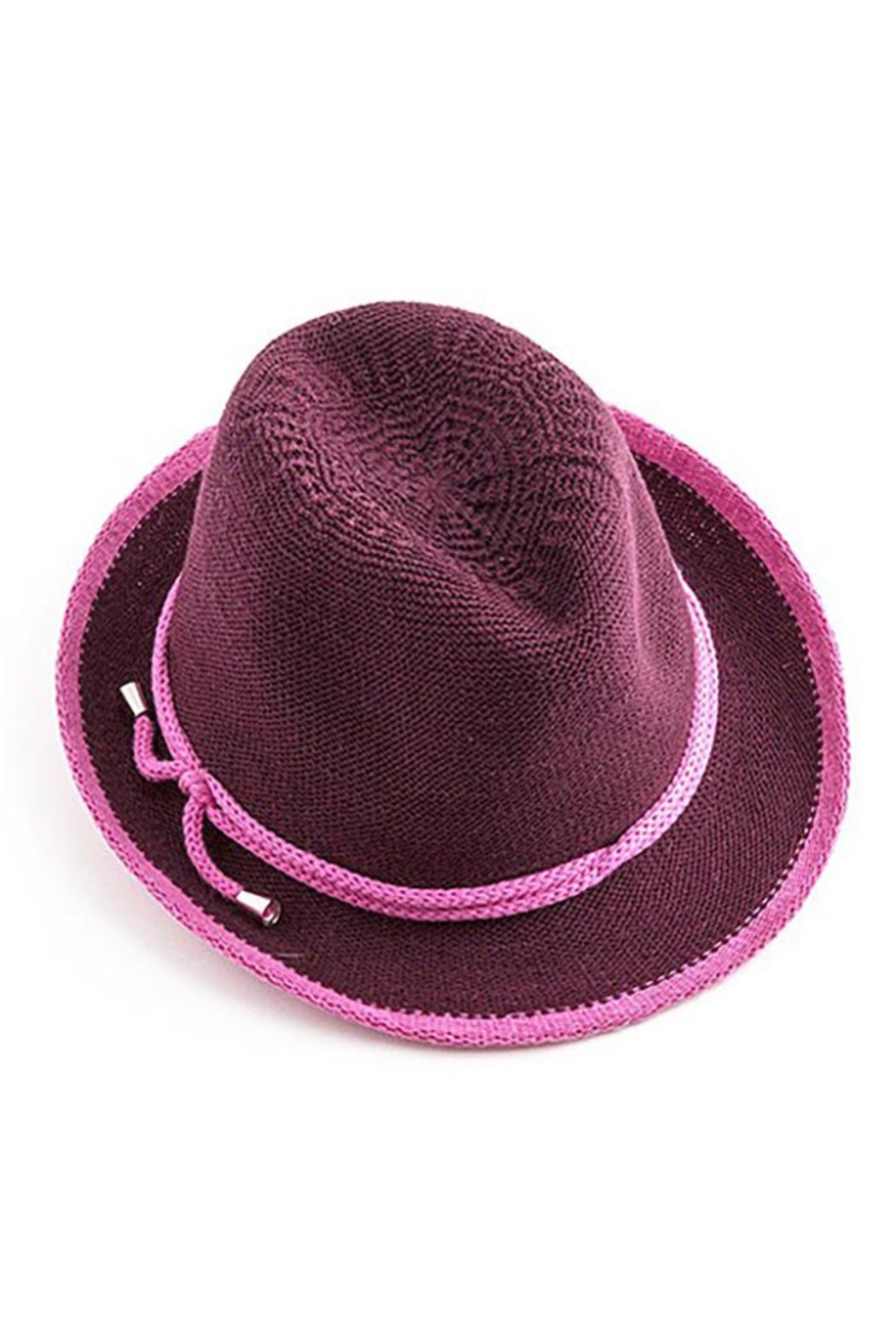 Too Too Hat Fedora With Contrast Color Rope - Front Cropped Image
