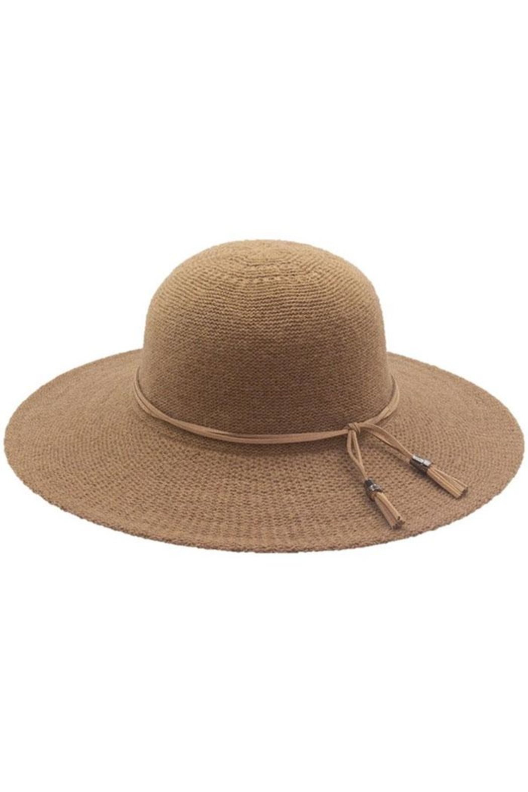Too Too Hat Floppy Hat With Suede Tie - Main Image