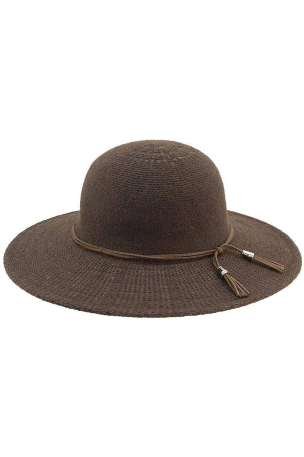 Too Too Hat Floppy Hat With Suede Tie - Front Cropped Image