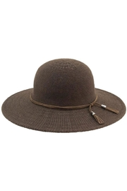 Too Too Hat Floppy Hat With Suede Tie - Front cropped