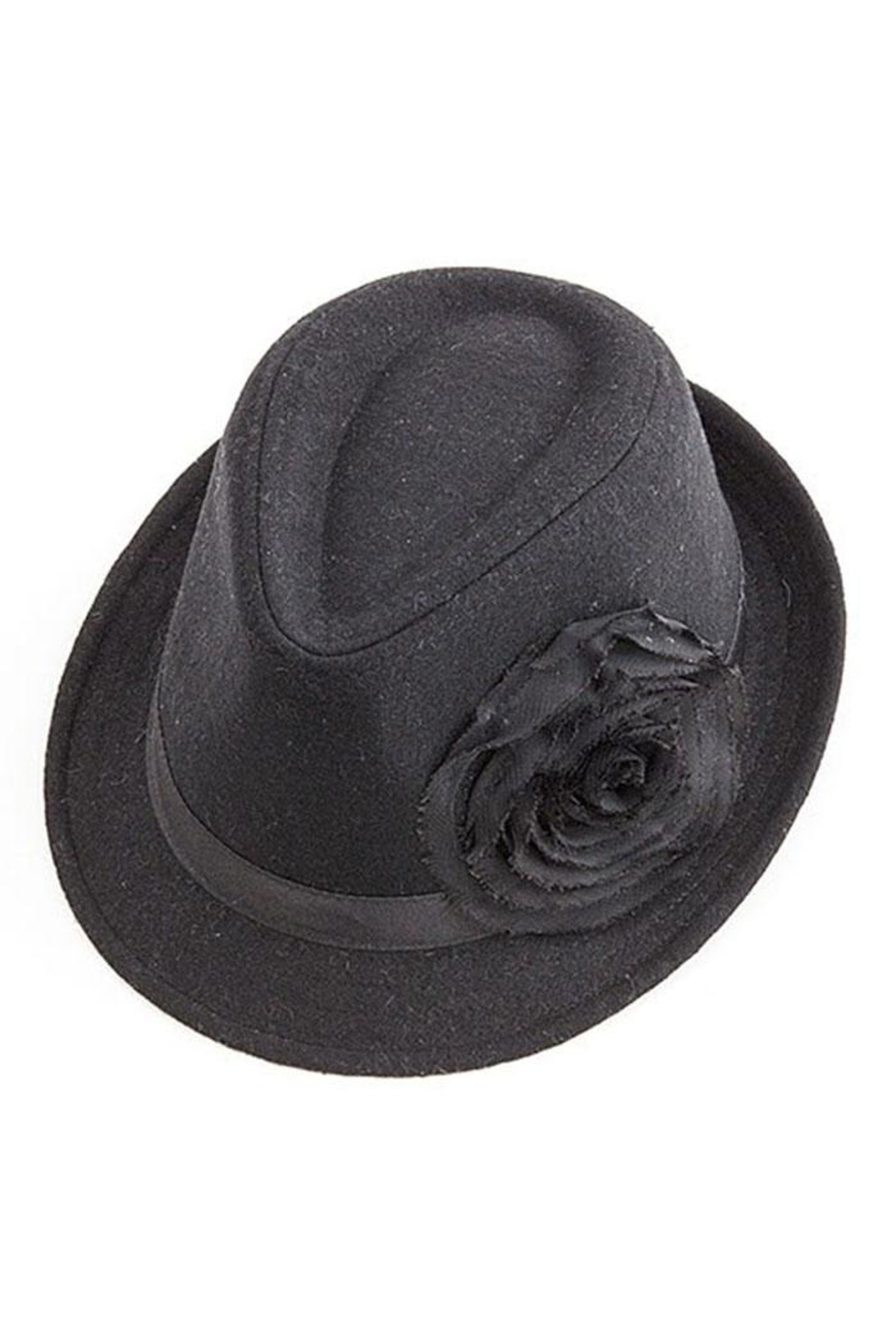 Too Too Hat Flower Accent Fedora - Front Cropped Image
