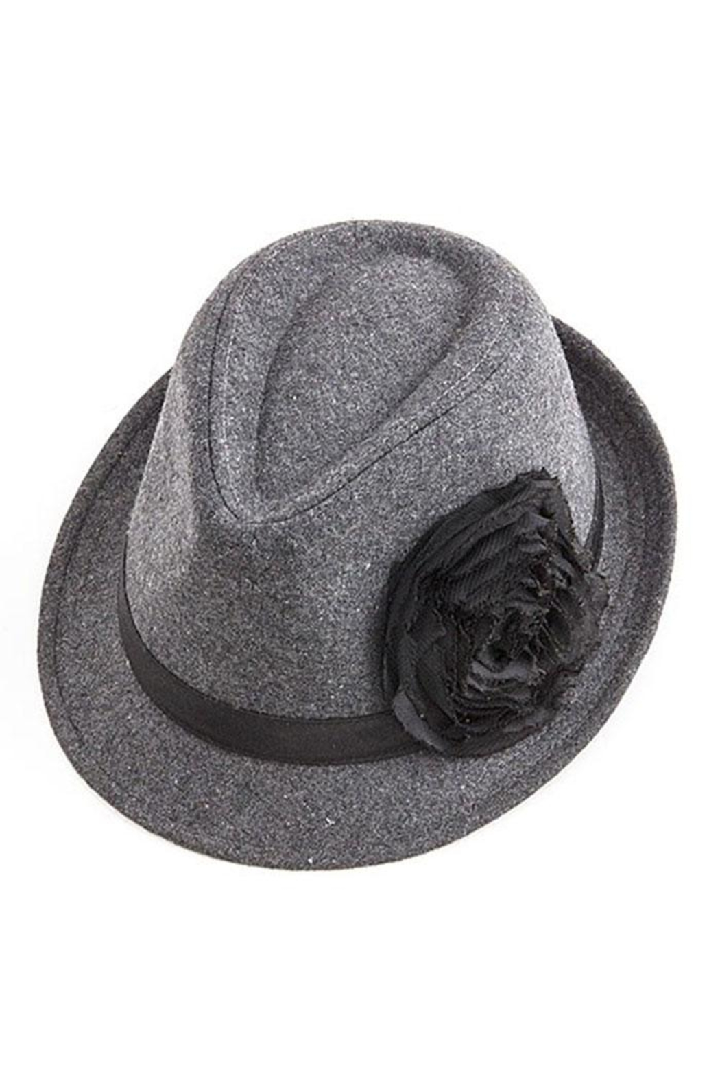 Too Too Hat Flower Accent Fedora - Main Image