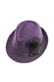 Too Too Hat Flower Accent Fedora - Front cropped