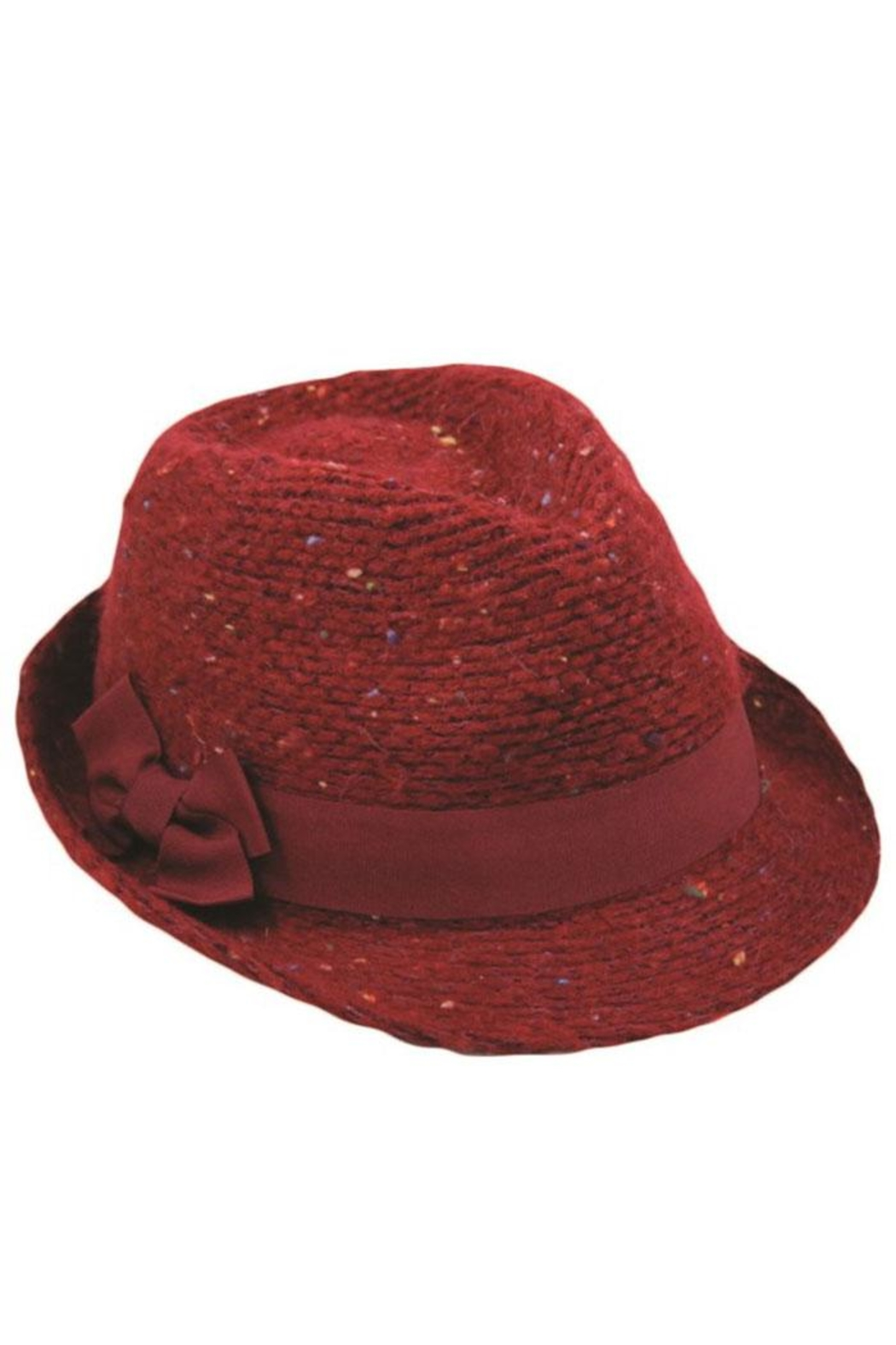 Too Too Hat Multiple Color Fleck Fedora - Front Cropped Image