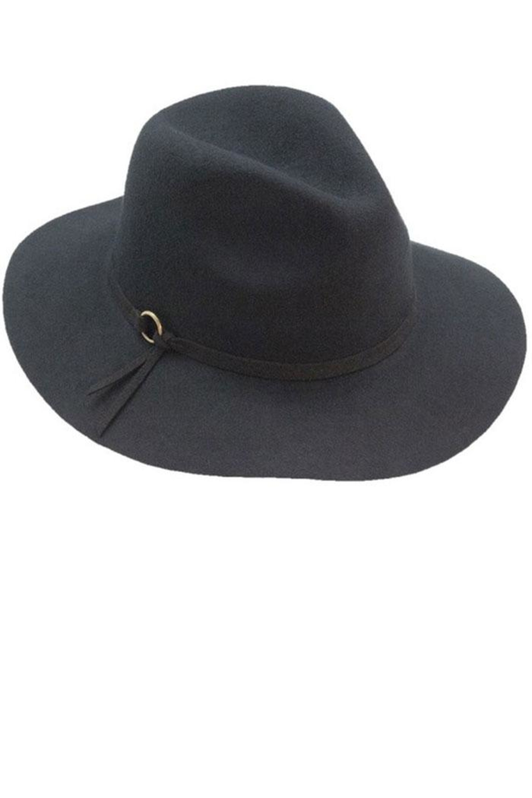 Too Too Hat Panama With Faux Suede Strap - Front Cropped Image