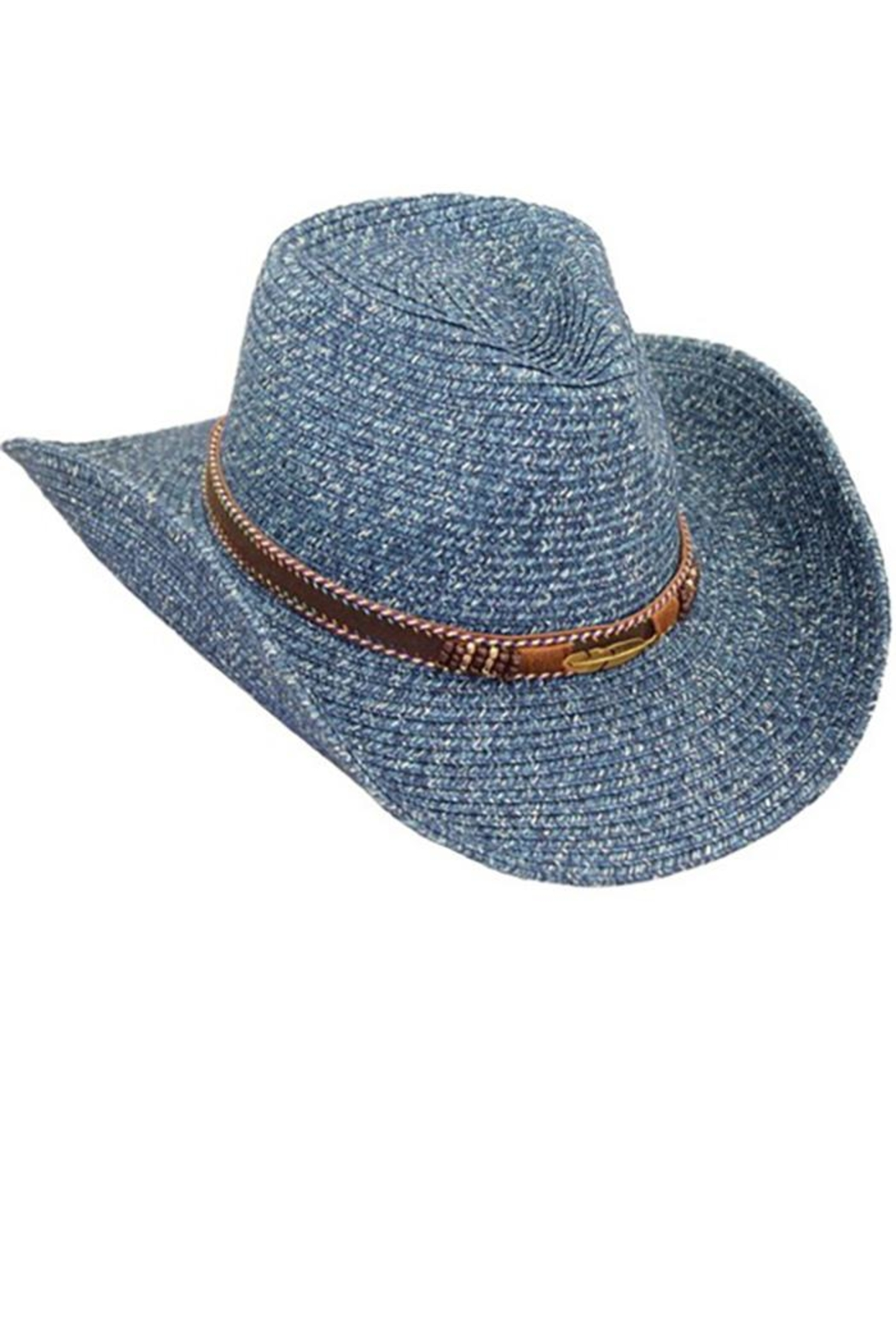 Too Too Hat Tribe Band Cowboy Hat - Front Cropped Image