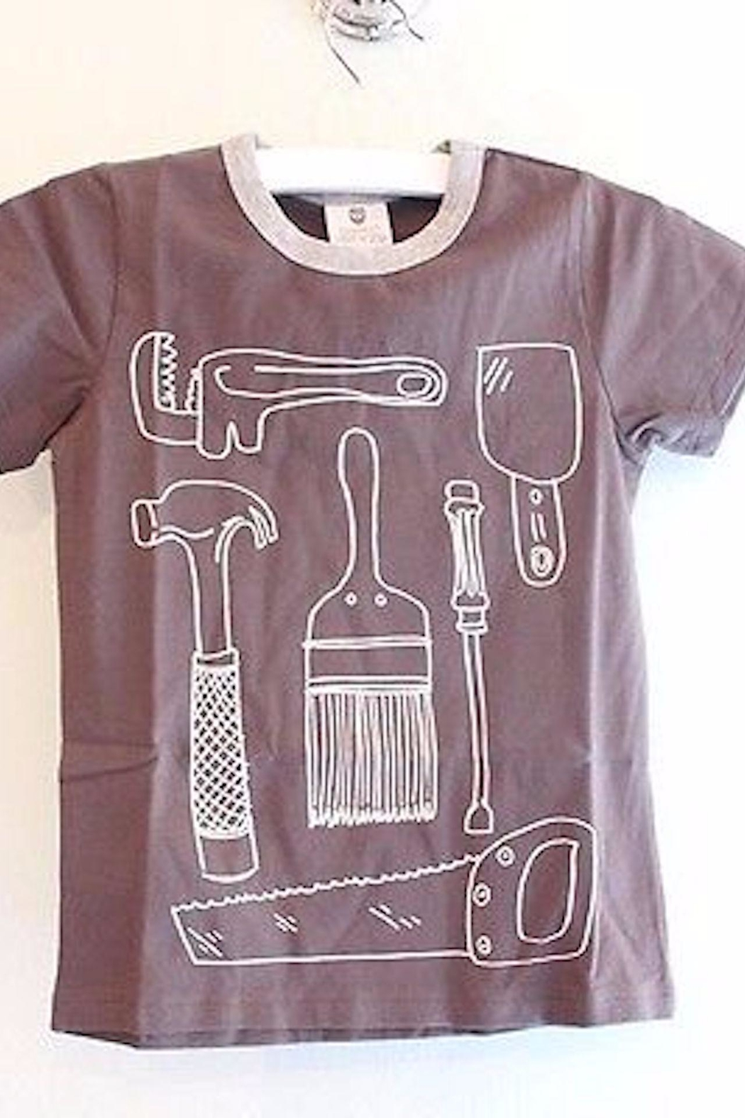 Hootkid Tool Time Tee - Front Cropped Image