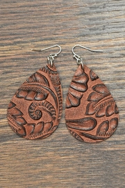 JChronicles Tooled Leather Earrings - Product Mini Image