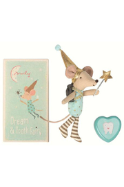 Maileg Tooth Fairy Big Brother Mouse with Metal Box - Product Mini Image