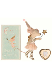 Maileg Tooth Fairy Big Sister Mouse with Metal Box - Product Mini Image