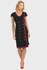 Joseph Ribkoff  Top Brass Dress, Black - Product Mini Image