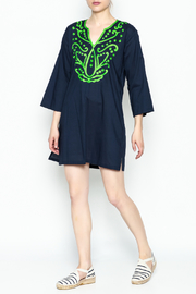 Top It Off Navy Embroidered Tunic - Side cropped