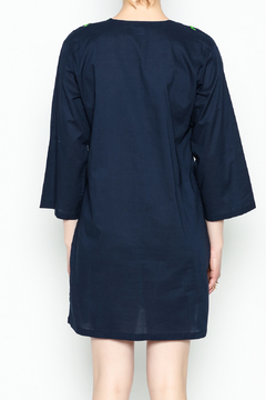 Top It Off Navy Embroidered Tunic - Alternate List Image