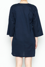 Top It Off Navy Embroidered Tunic - Back cropped