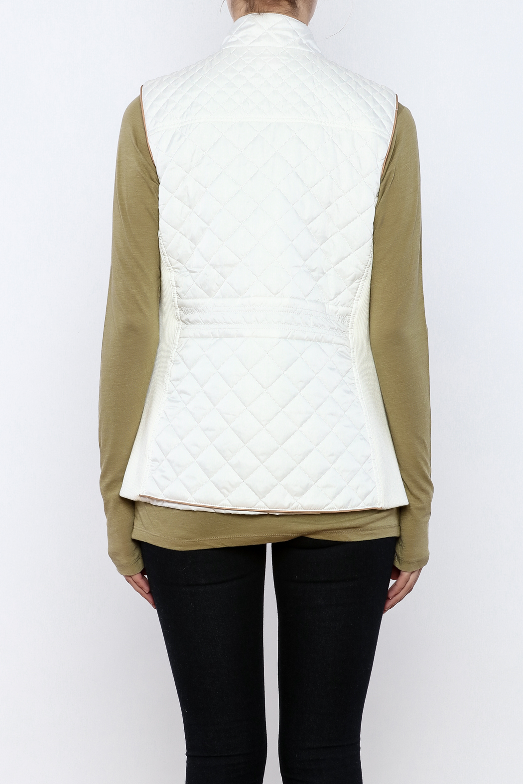 Top It Off Quilted Vest - Back Cropped Image