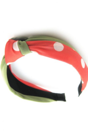Story By Davinci Top Knot Polka Dot Headband - Front cropped