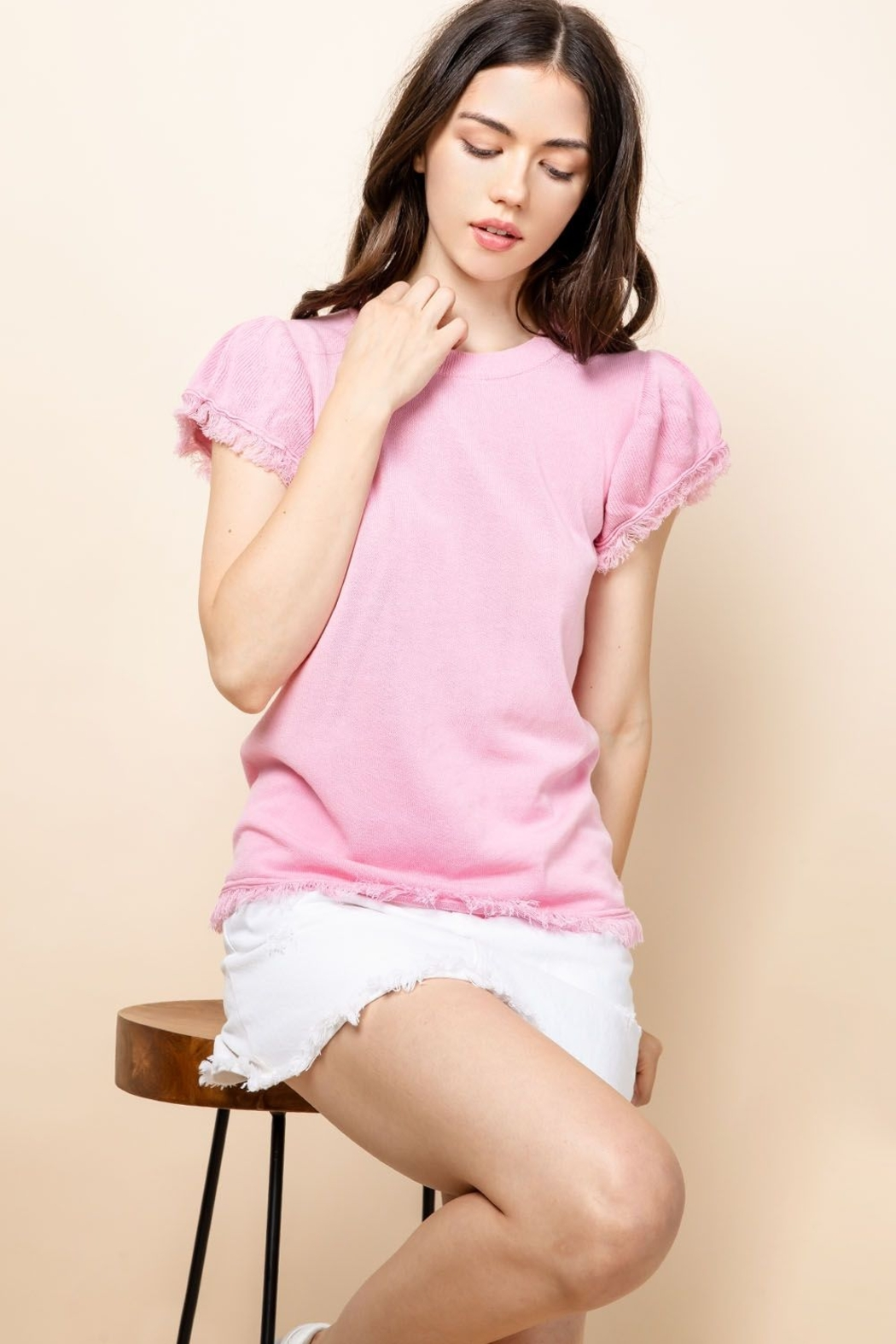 Thml PUFFY SLEEVE TOP - Front Cropped Image