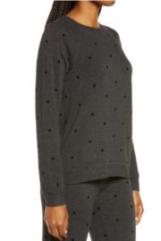PJ Salvage Top Snow Dot - Front full body