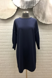 Scapa Top Stitch Navy Dress - Product Mini Image