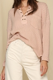 By Together  Top with Eyelet Detail and Oversized Fit - Front cropped