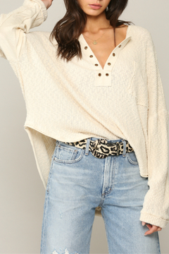 By Together  Top with Eyelet Detail and Oversized Fit - Product List Image