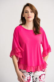 Joseph Ribkoff Top with ruffles - Product Mini Image