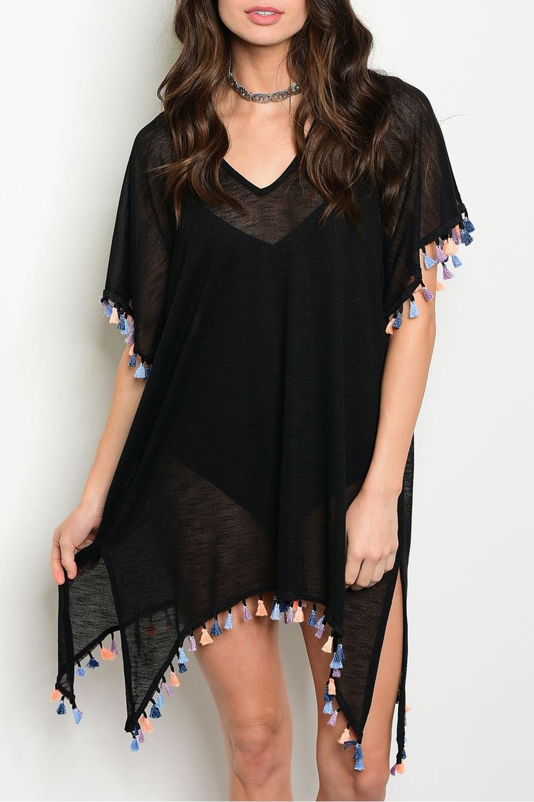 top chic Pompom Beach Cover Up - Main Image