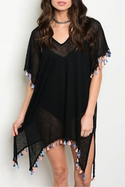 top chic Pompom Beach Cover Up - Front cropped